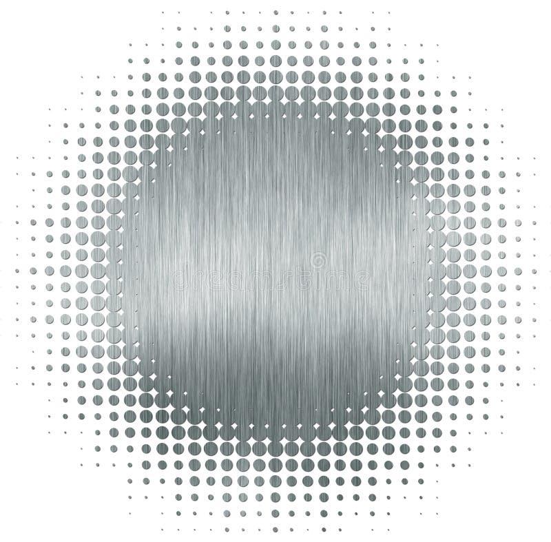 Circle halftone metal texture vector illustration