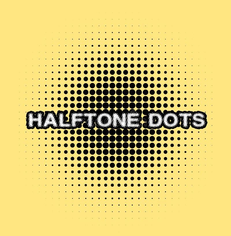 Halftone dots. royalty free illustration