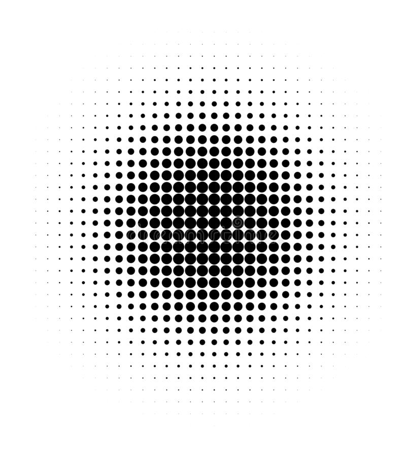 Halftone black dots on white background. vector illustration