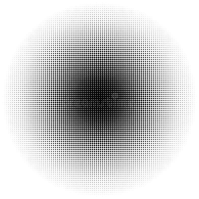 Circle halftone pattern / texture. Monochrome halftone dots. vector illustration