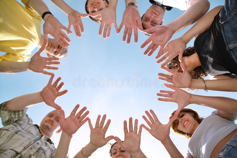 Circle from hands royalty free stock image