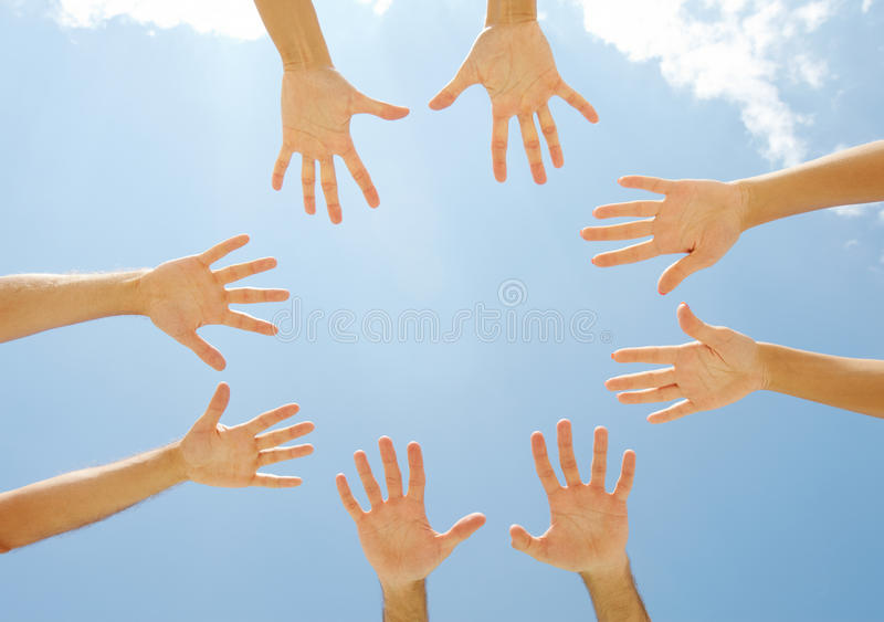 Download Circle of hands stock photo. Image of helpful, companionship - 26817476