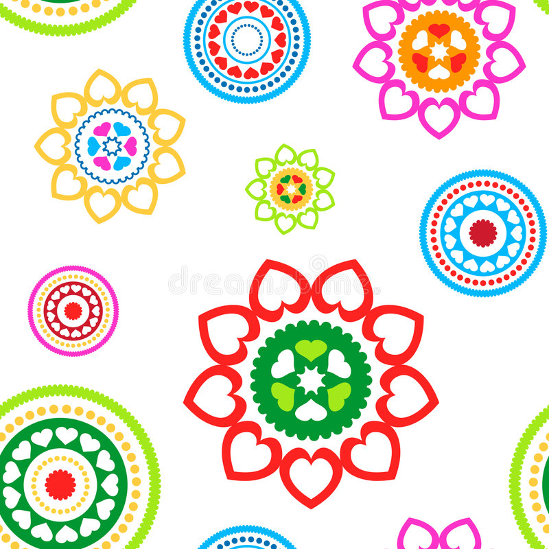 Download Circle Hearts Seamless Pattern Stock Vector - Image: 7261554