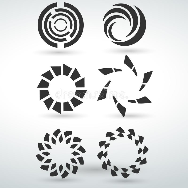 circle icon symbol isolated vector on a white backround royalty free illustration