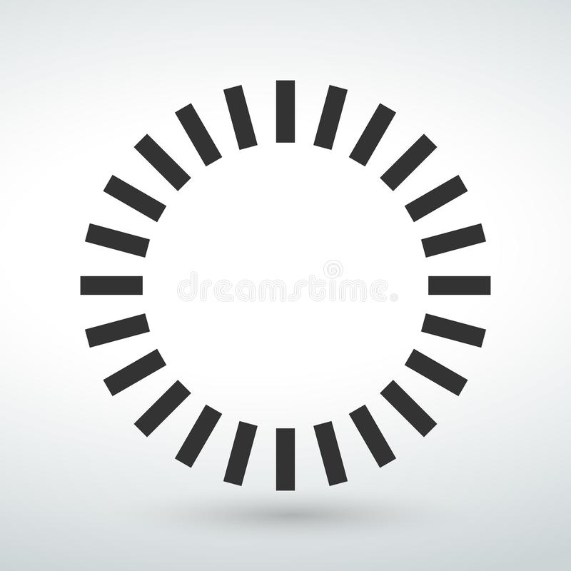 circle icon symbol isolated vector on a white backround stock illustration