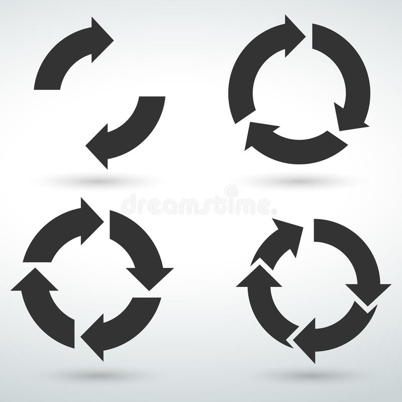 circle icon symbol isolated vector on a white backround vector illustration