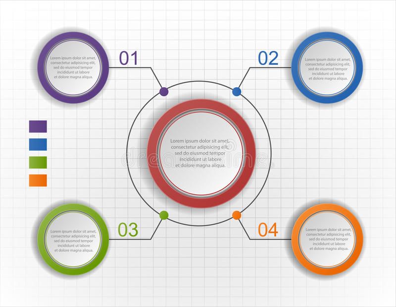 Circle infographic chart, diagram, scheme vector illustration
