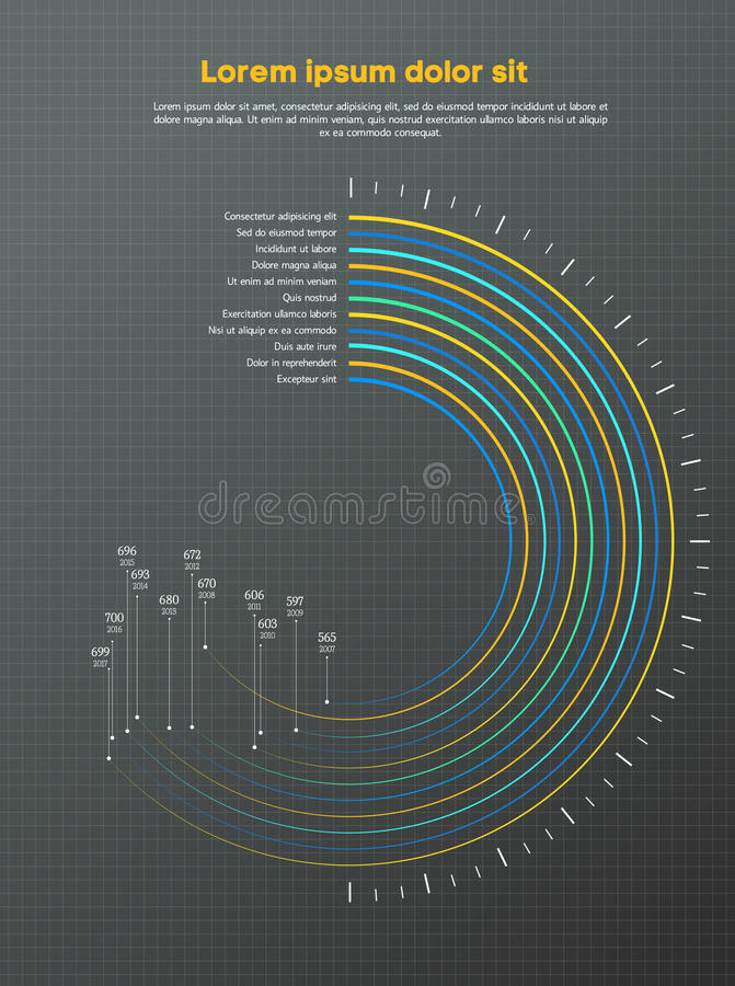 Circle Infographic Concept - Scheme. Statistics graphic design , vector illustration. Can be used for workflow layout stock photography