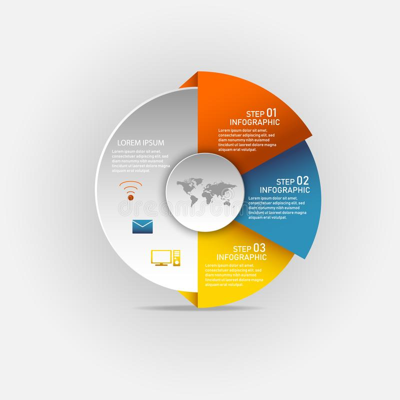 Circle infographic vector illustration