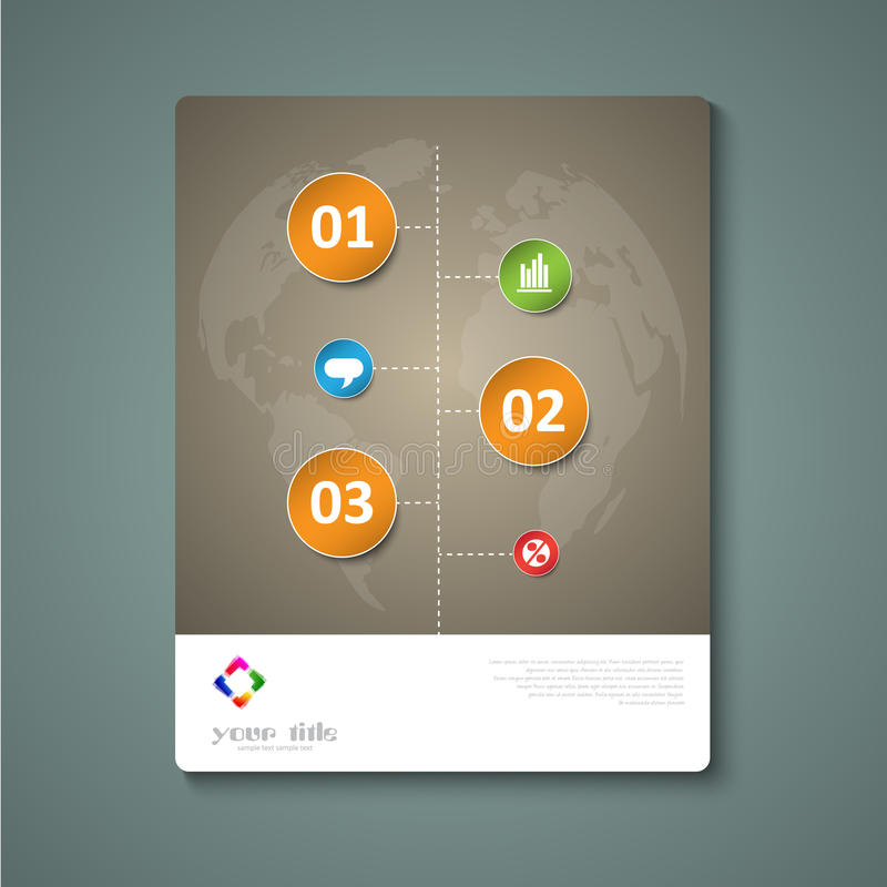 Circle infographic signs. Brochure template vector illustration