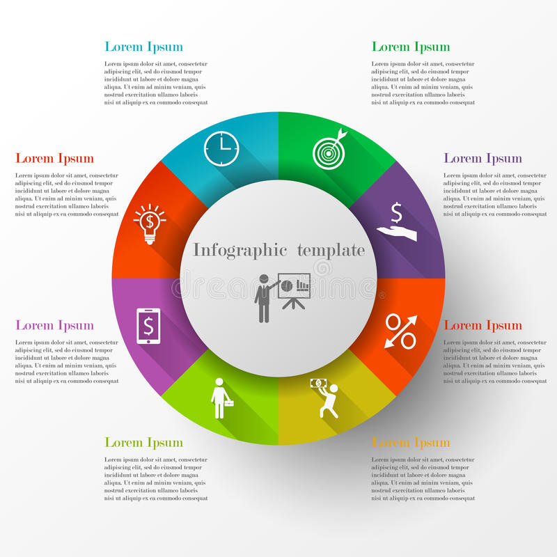 Circle infographic template royalty free illustration