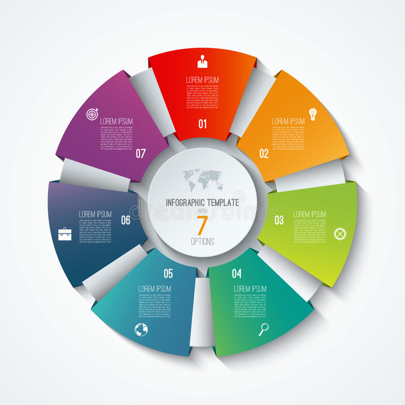 Circle Infographic Template. Process Wheel. Vector Pie Chart ...
