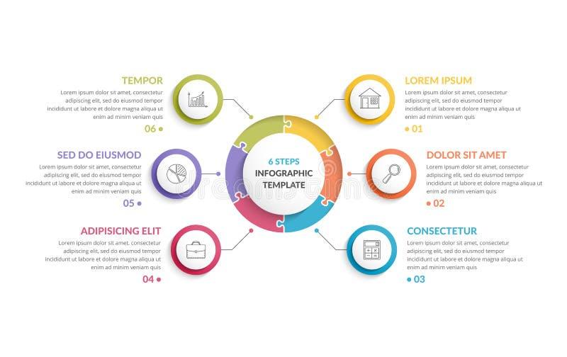 Circle Infographics - Six Elements royalty free illustration