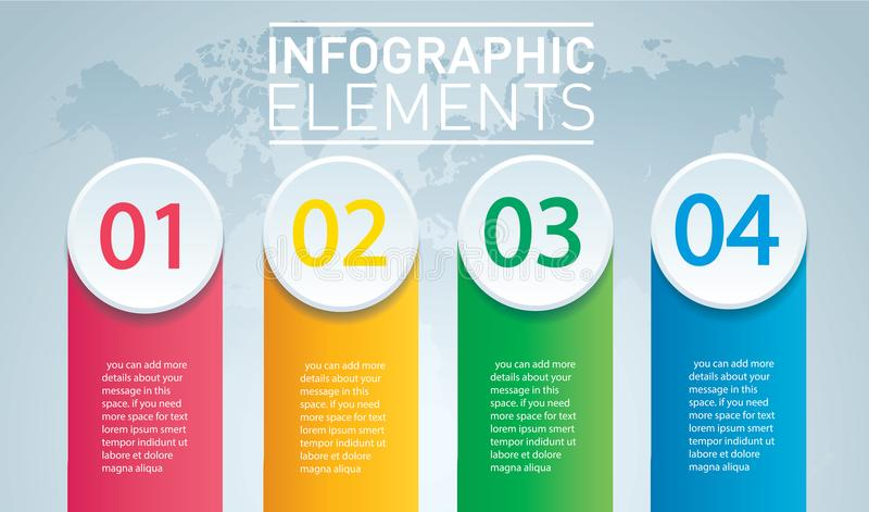 Circle infographic. Vector template with 4 options. royalty free illustration