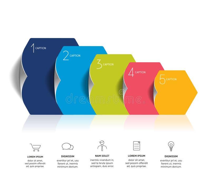 Circle infographics options banner, template, scheme, chart. Four step design. vector illustration