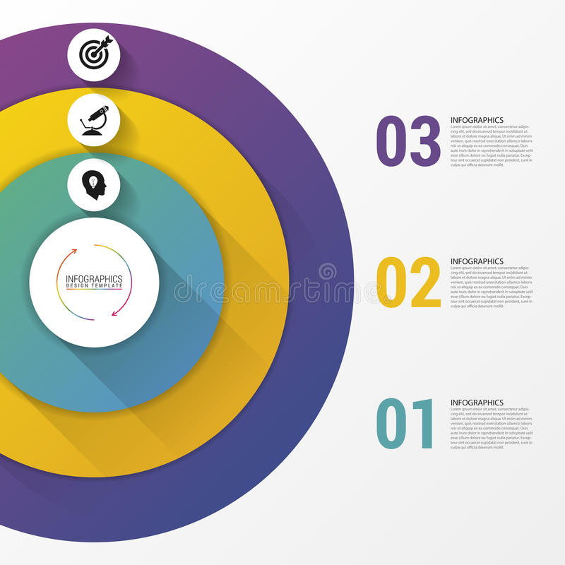 Circle infographics. Template for diagram. Vector illustration. Circle infographics. Template for diagram, graph, presentation and chart. Vector illustration royalty free illustration