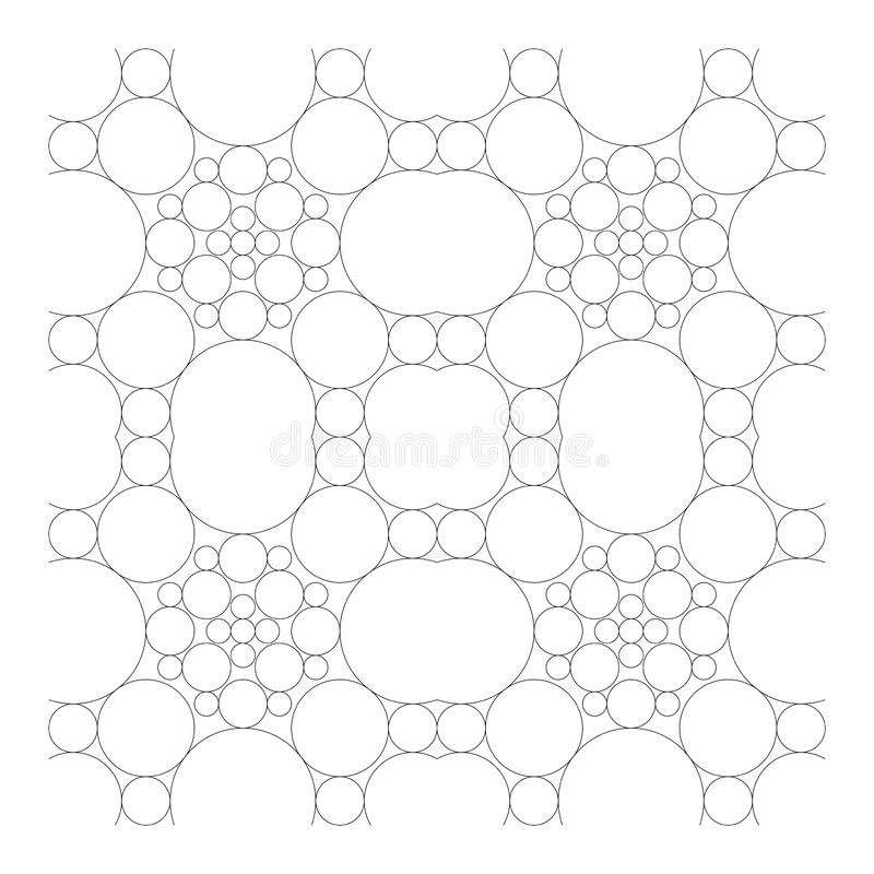 Circle kaleidoscope adult coloring vector illustration