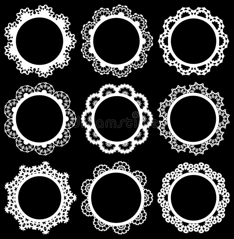 Circle lace frame royalty free illustration