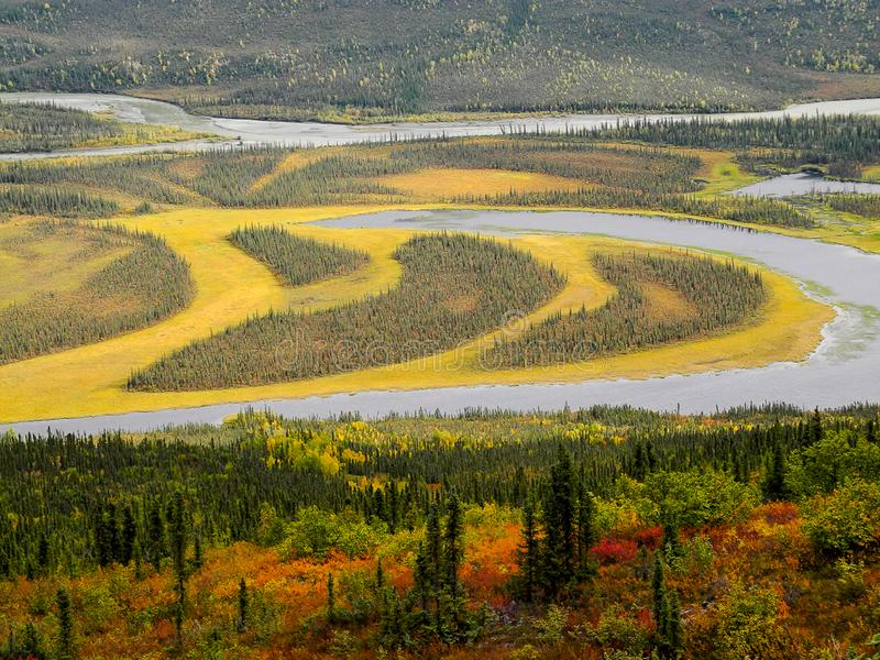 Circle Lake in Indian Summer, Alaska stock photos