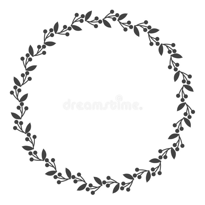 Free Circle Leaf Frames. Floral Leaves Round Frame, Flower Ornament Circles And Flowers Circled Border. Laurel Leaf Wreath Icons For Stock Photos - 156139303