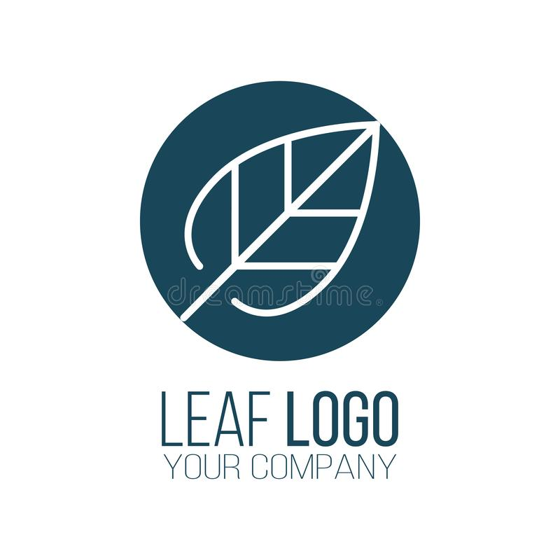 Circle leaf logo icon vector design. Landscape design, garden, Plant, nature and ecology vector logo. Ecology Logotype concept. Icon. Vector illustration royalty free illustration
