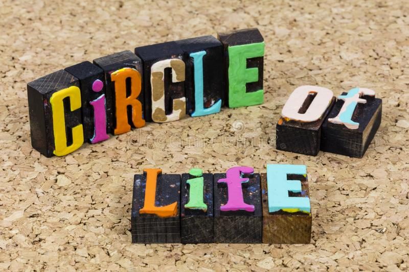 Circle life awareness love growth love support family lifestyle stock photos