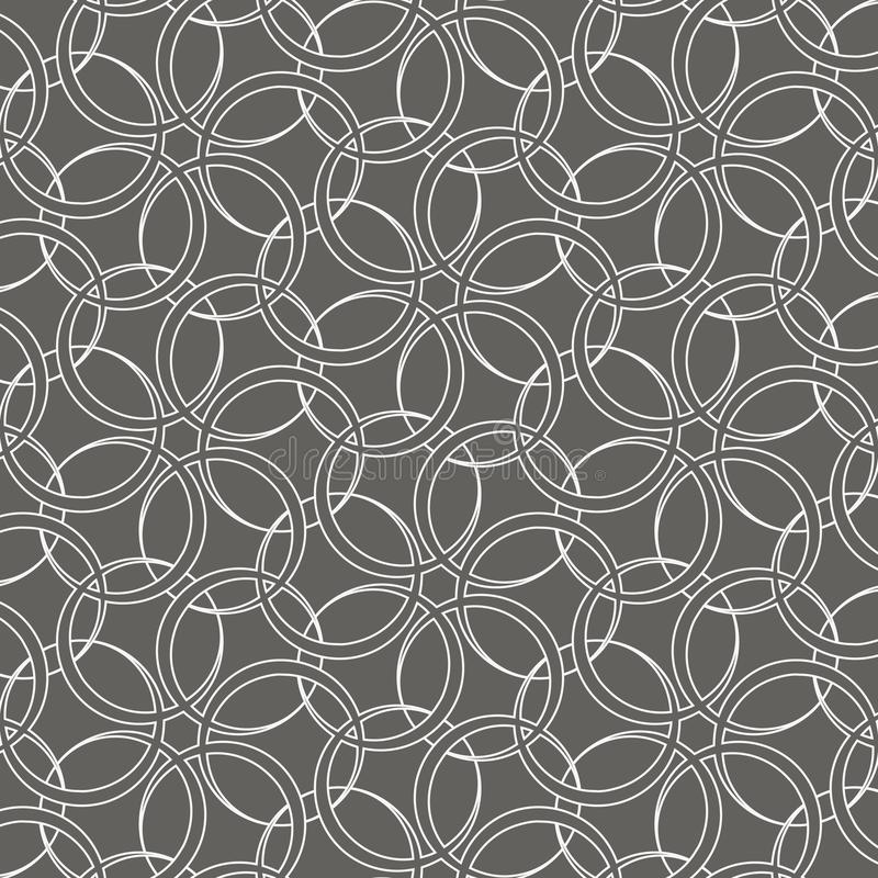 Circle lines overlap. linear vector pattern. graphic clean design for fabric, event, wallpaper etc. Pattern is on swatches panel royalty free illustration