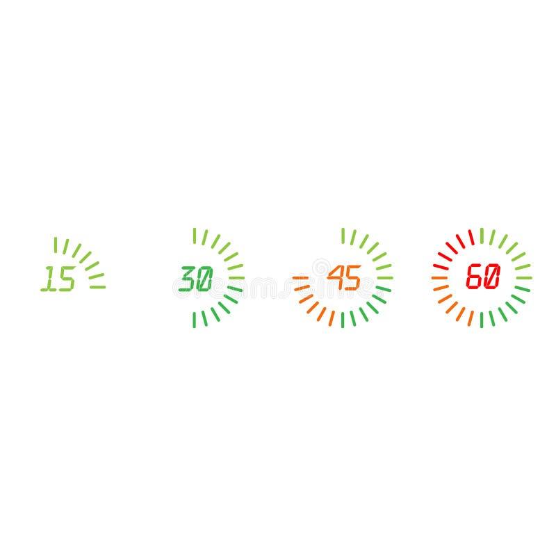 Circle Loading , Progress indicator Icon Illustration design set. Vector illustration stock illustration