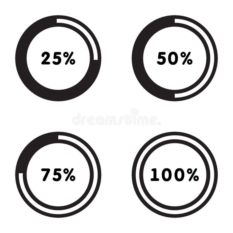 Circle Loading , Progress indicator Icon Illustration design set. Loading set vector illustration
