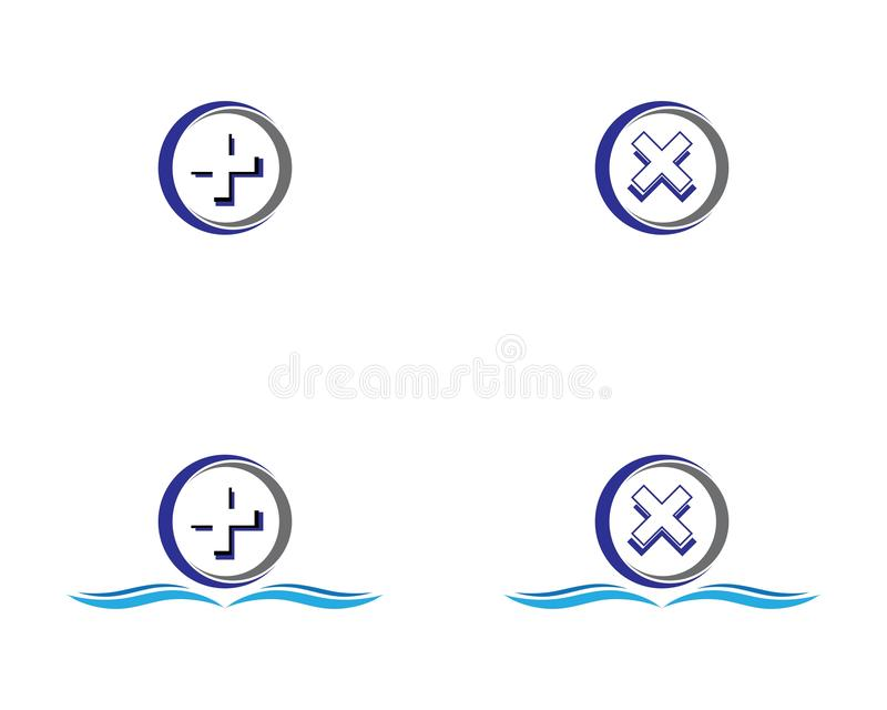 circle logo vector illustration