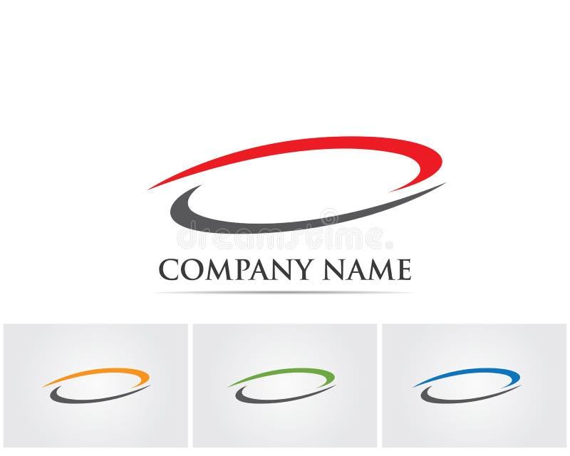 circle logo and symbols Vector Technology.. royalty free illustration