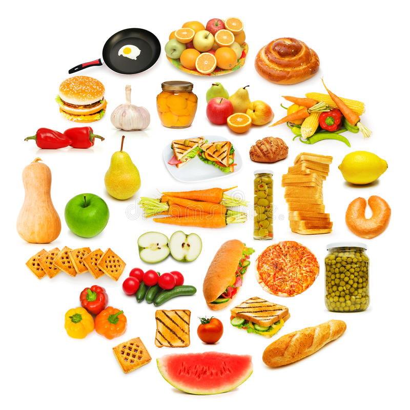 Download Circle with lots of food stock photo. Image of bread - 23372658