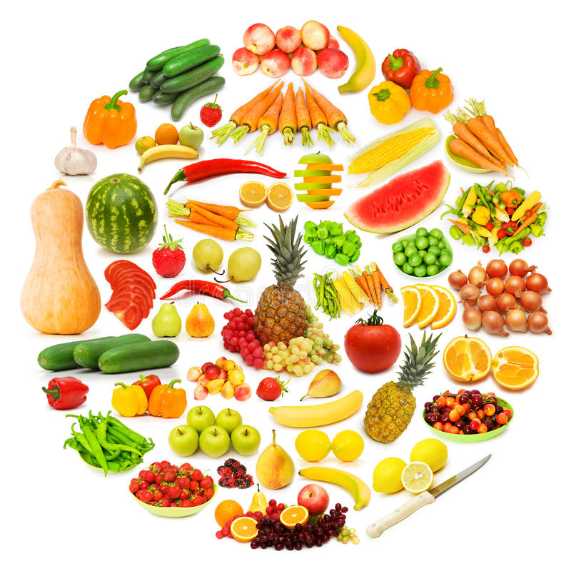 Download Circle With Lots Of Food Stock Photo - Image: 23498530