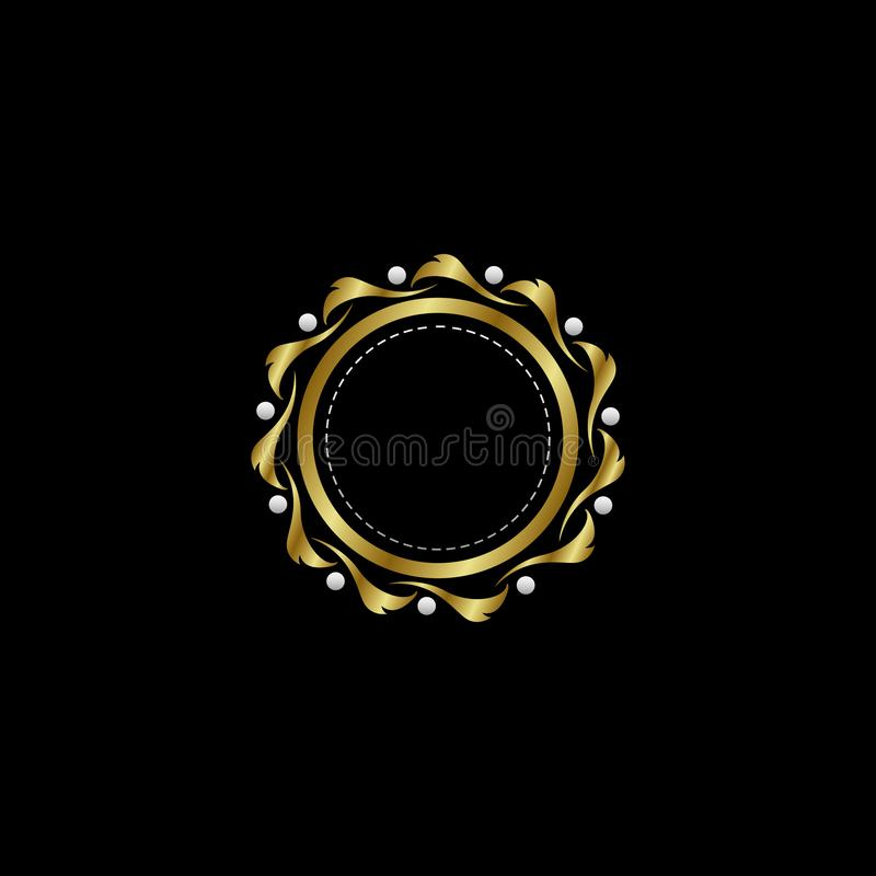 Circle Luxury Boutique Circle Badge Template Logo. Vector, suitable with classy and vintage theme vector illustration