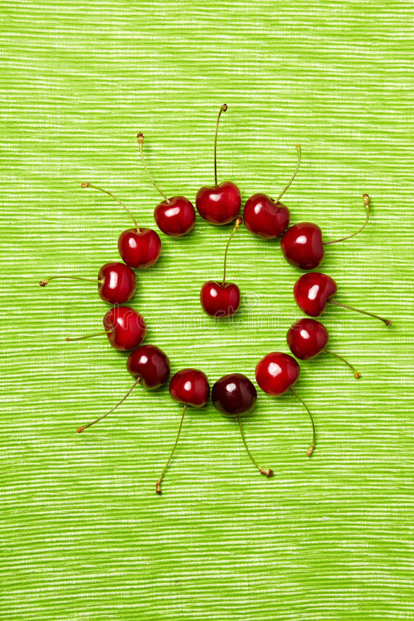 Download Circle made of cherries stock photo. Image of morello - 19989716