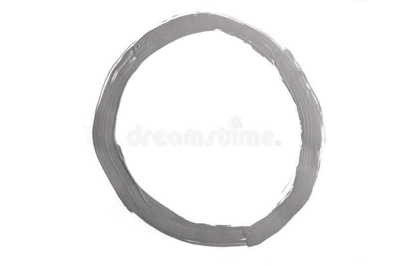 Circle made with plastic paint royalty free stock photos