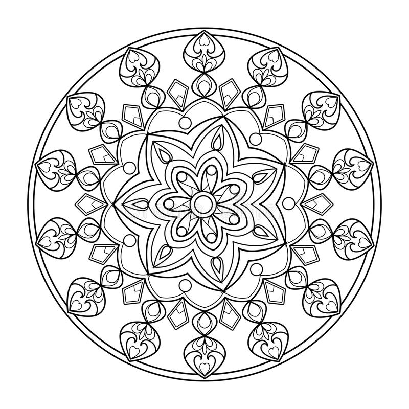 Download Circle Mandala Coloring Book For Adults Vector Stock