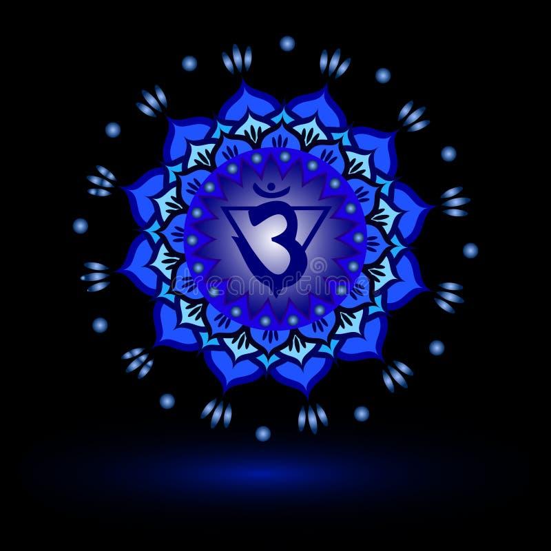 Circle mandala pattern. Ajna chakra. Circle mandala pattern. Ajna chakra vector illustration vector illustration
