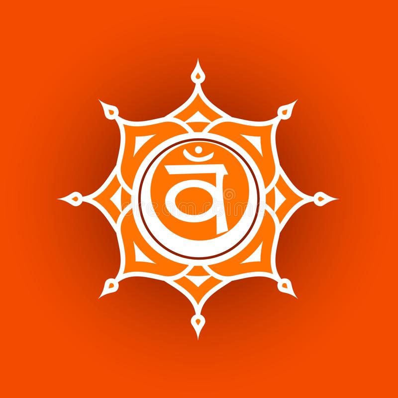 Circle mandala pattern. Swadhisthana chakra. Circle mandala pattern. Swadhisthana chakra vector illustration vector illustration