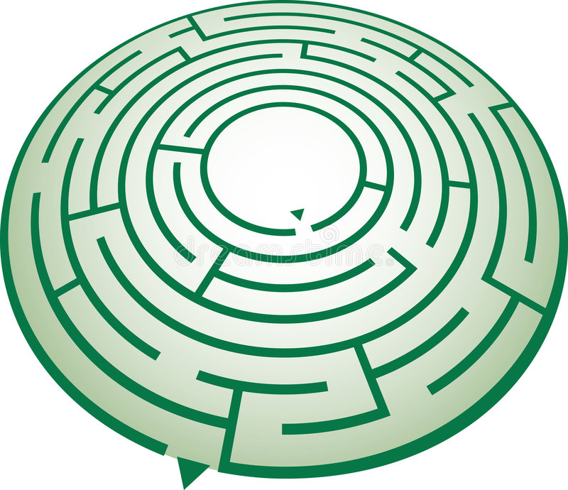 Download Circle Maze Royalty Free Stock Photo - Image: 1924575