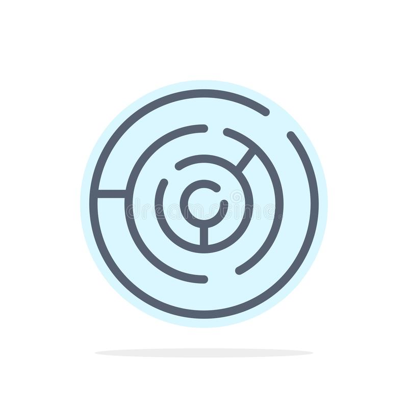 Circle, Circle Maze, Labyrinth, Maze Abstract Circle Background Flat color Icon stock illustration