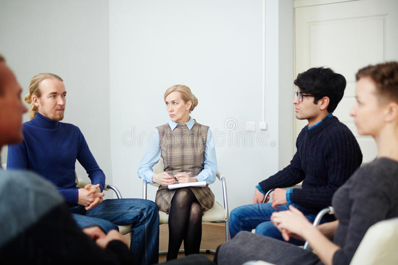 Circle of Mental Health Support Group royalty free stock image