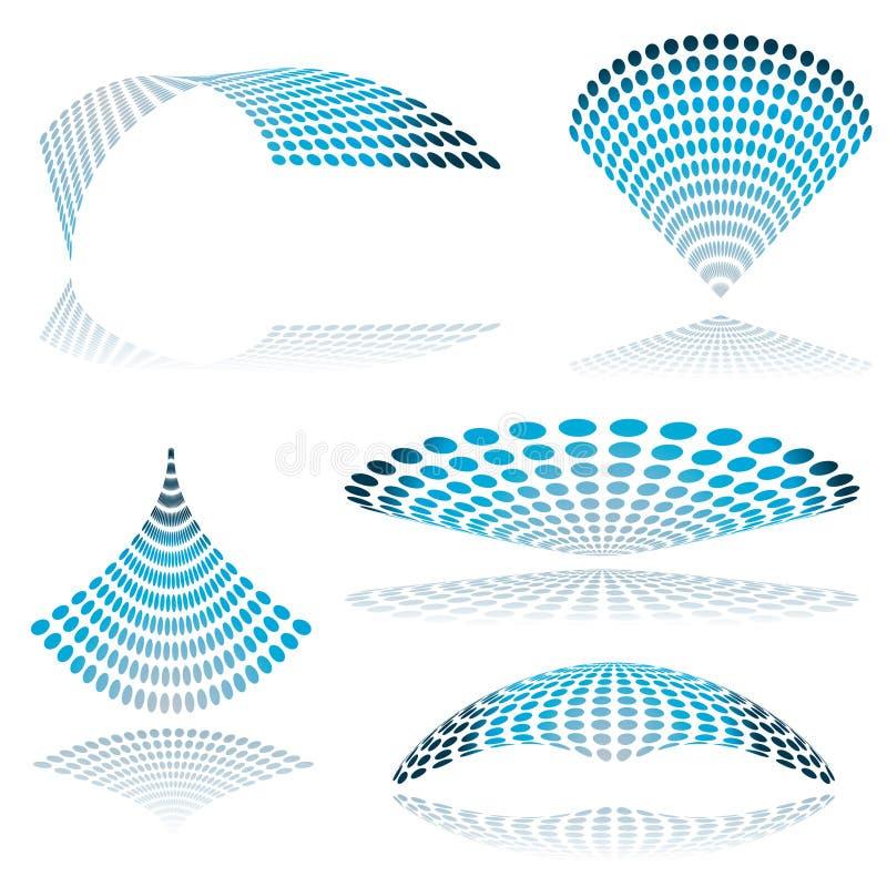 Download Circle mesh twist stock vector. Image of radiate, round - 8285492