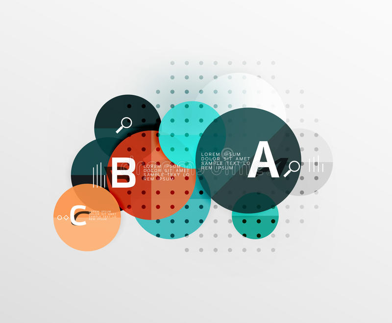 Circle modern geometry infographic background. Vector template background for workflow layout, diagram, number options or web design vector illustration