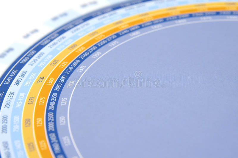 Circle With Numbers Stock Images