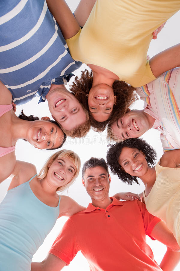 Free Circle Of Happy Friends Royalty Free Stock Image - 9820986