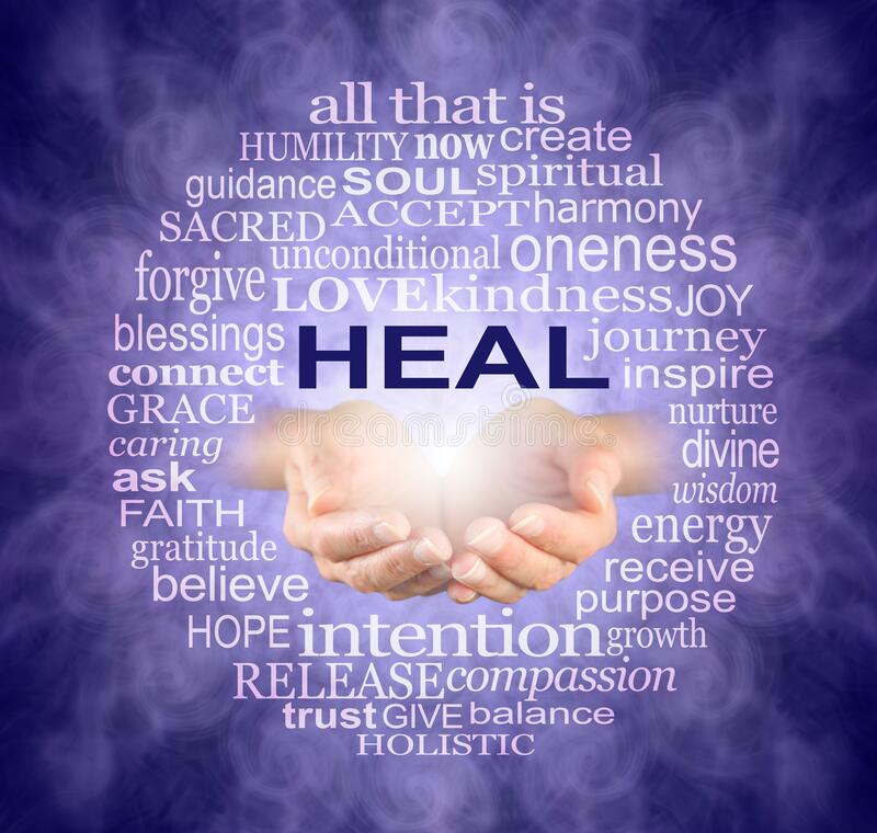 Free Circle Of Healing Words Tag Cloud Stock Images - 181167664