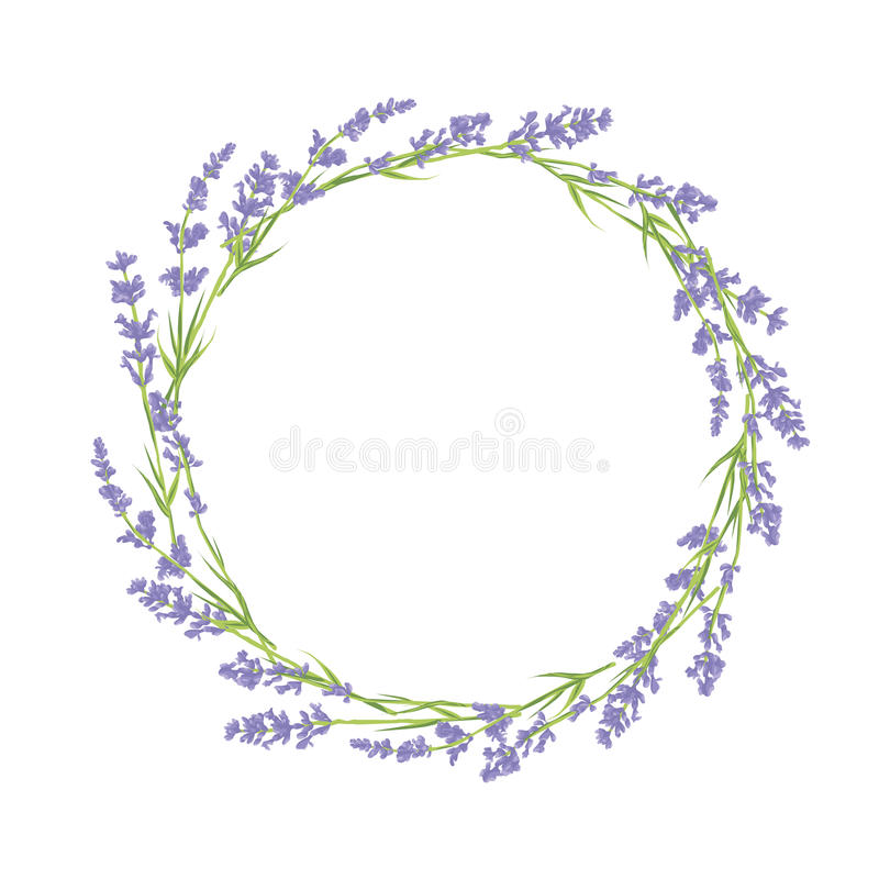 Free Circle Of Lavender Flowers Royalty Free Stock Photos - 52521738