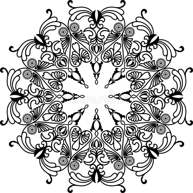 Download Circle ornament stock vector. Image of islamic, black - 28988747