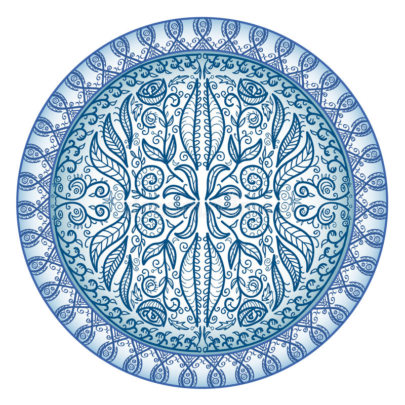 Circle Ornament Freehand Royalty Free Stock Photo